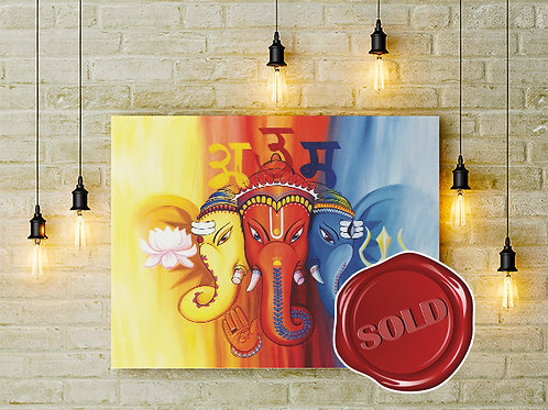 Omkar - The Sacred Syllable - Original Painting