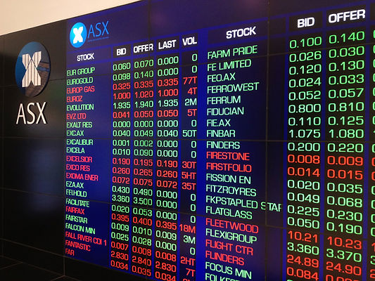 ASX board and stock prices