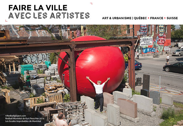 Visuel faire la ville avec les artistes