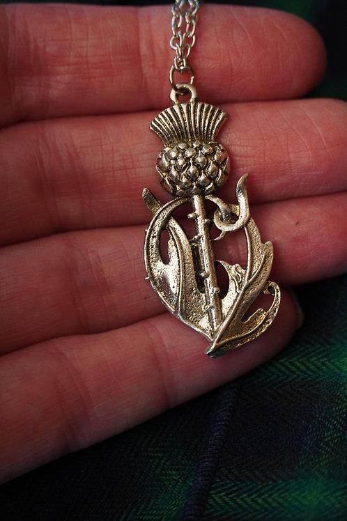 Big Thistle on Stem Necklace