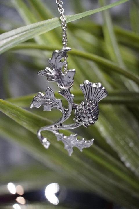 Romantic Thistle Pendant Necklace