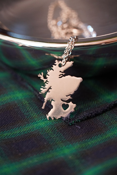 Stainless Steel Scotland with Heart
