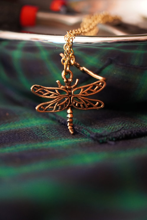 Small GoldPlated Dragonfly