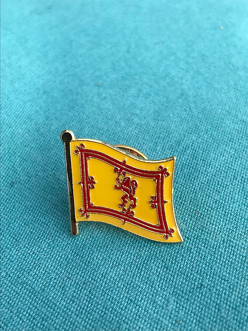 Lion Rampant lapel pin