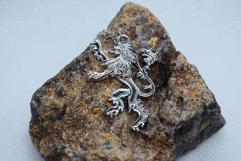 Lion Rampant Pendant Necklace