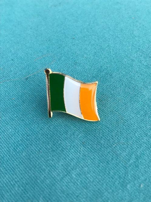 Ireland flag lapel pin.