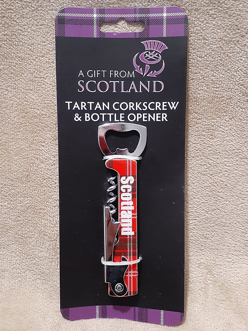 Tartan Corkscrew & Bottle Opener