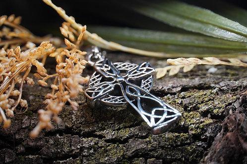 Stainless Steel Men's Celtic Cross