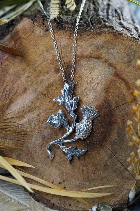 Large Stemmed Thistle Necklace