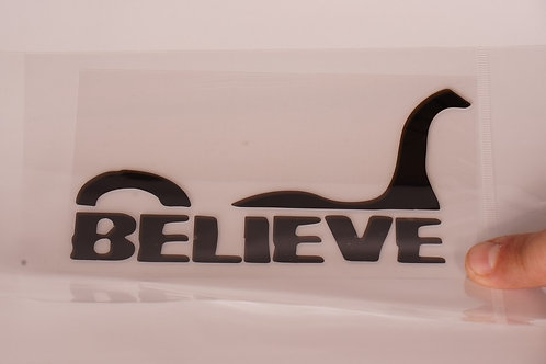 I Believe Bumper Sticker (2 different colors available)