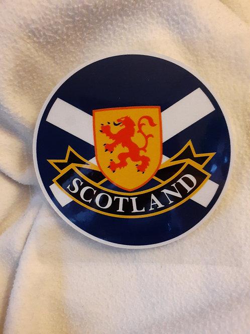 Circle Scotland Crest Sticker