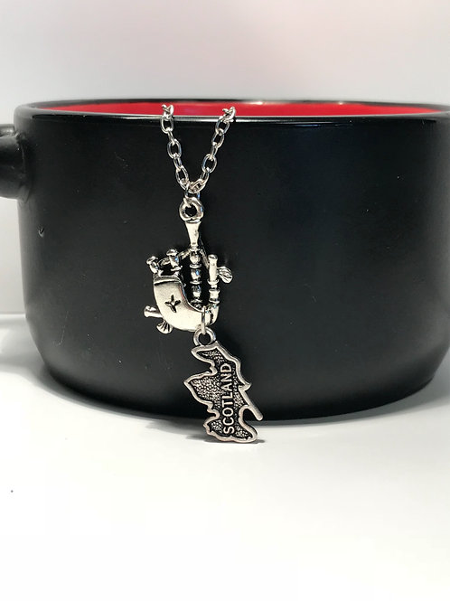 Scotland charm necklace