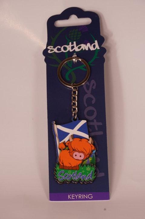 Scotland Coo Keyring
