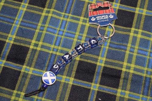Dice Scotland Keyring