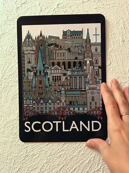 Small Scotland Landmark Metal Wall Decoration