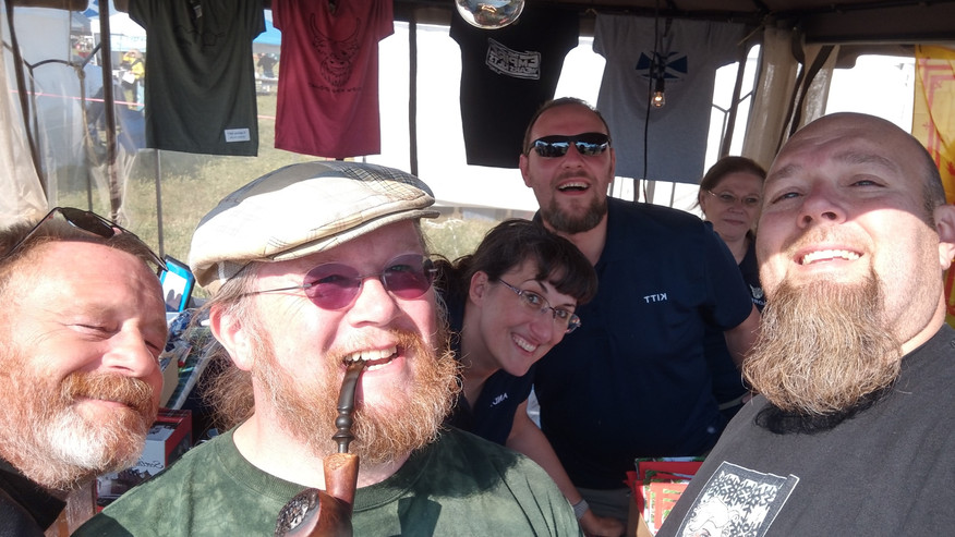 We love selfies! We love photobombing selfies even more! ha!   This group is actually our pals. They came out to enjoy the event and to show their support. <3