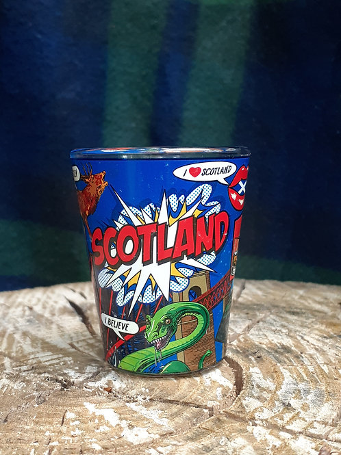 Scotland PopArt Shotglass