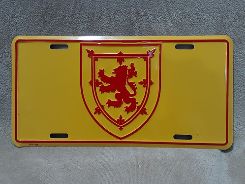 Lion Rampant License Plate Cover
