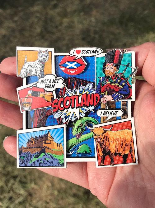 Pop art magnet