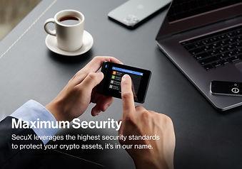 SecuX W20_Hardware Wallet_Maximum Securi