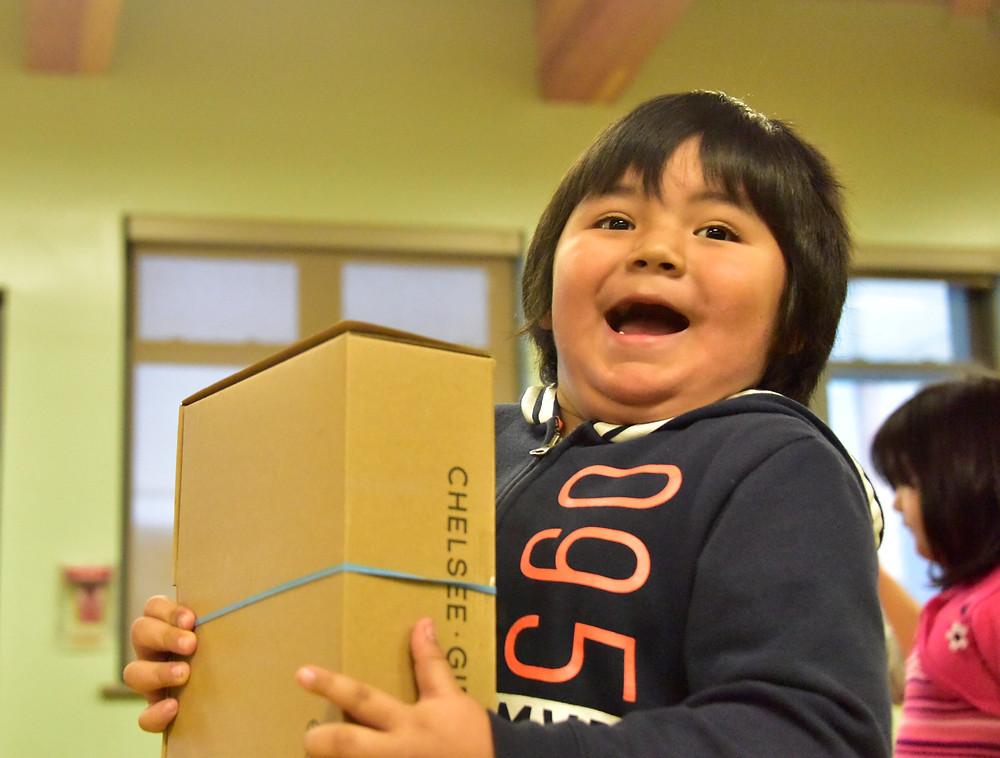 Attawapiskat boy delighted