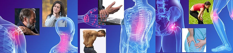 Pain on back, shoulders, wrist, neck, etc
