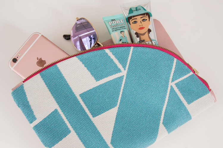 Miami Leather Clutch Club Turquoise