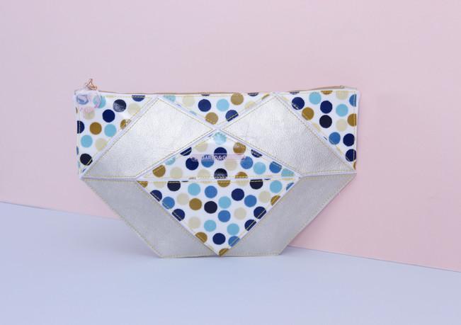 Origami Petit Pois Straw Travel Bag