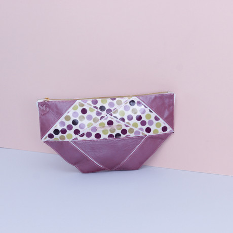 Origami Petit Pois Rhubarb Travel Bag