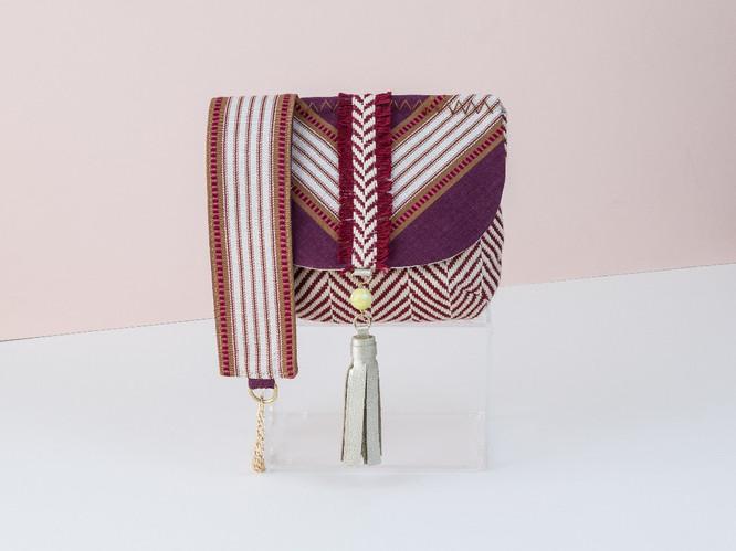 Jipijapa Saddle Bag Maroon - Sold