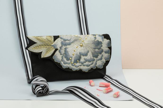 Kimono Clutch Noir