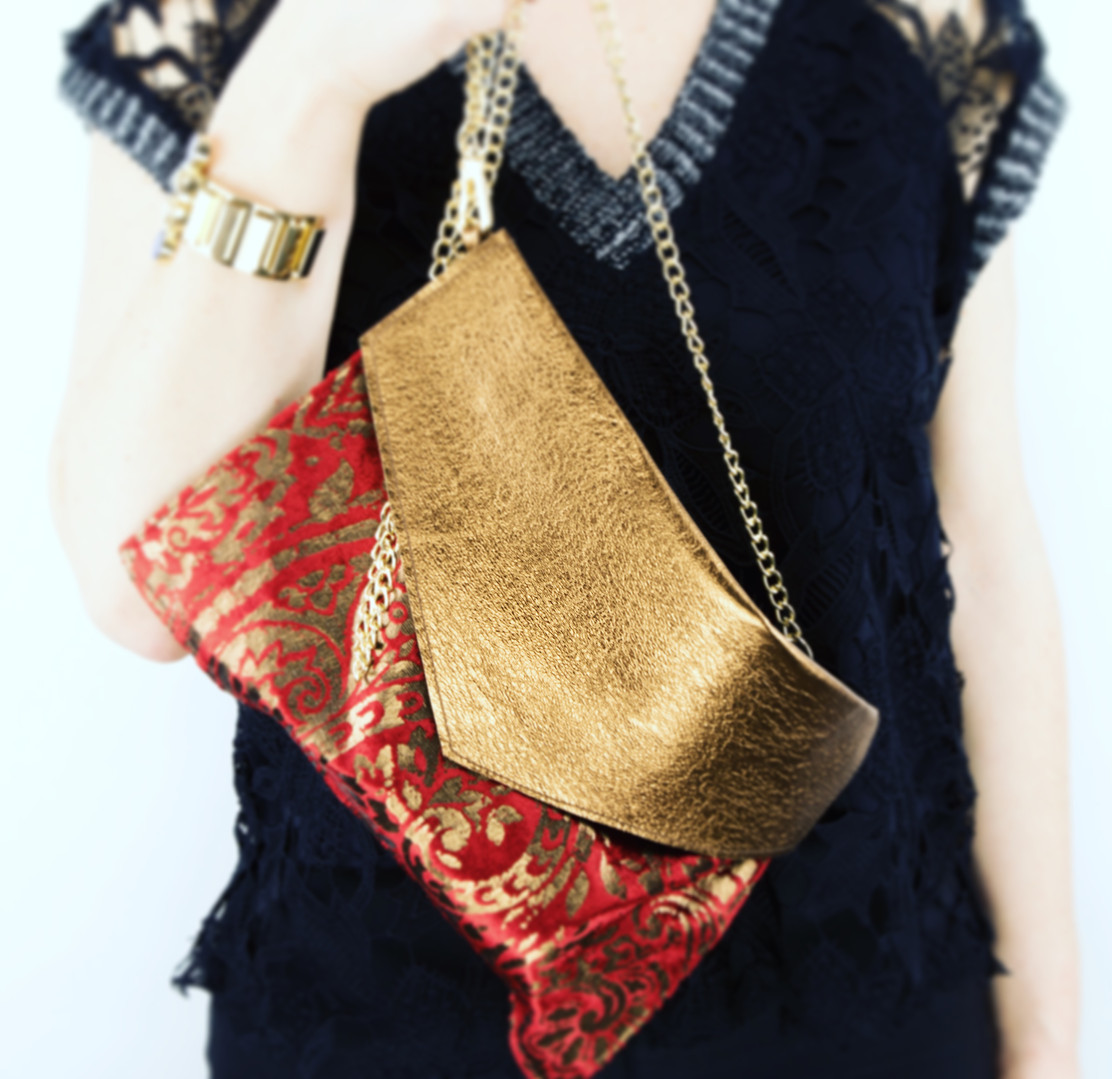 Glamour Series Leather Clutch