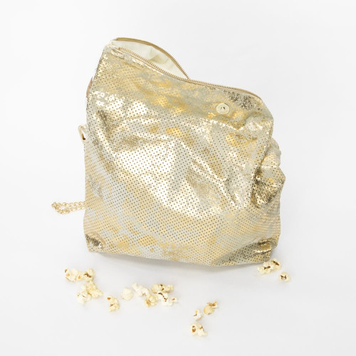Padded Roll Leather Bag Gold