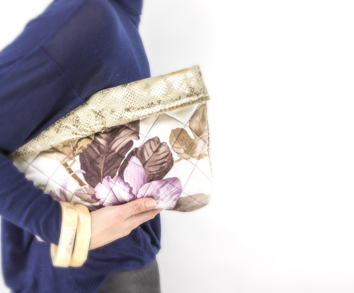 Padded Leather Roll Bag