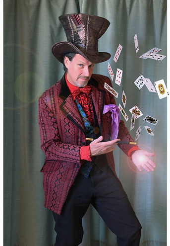 Magician with big hat