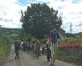 Stilt walking Jester