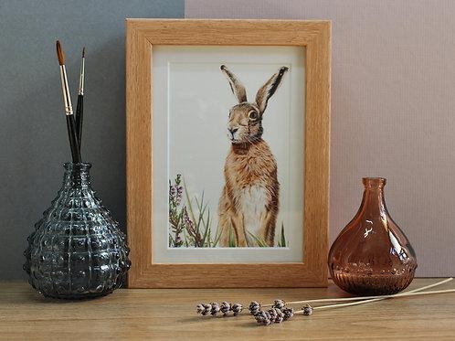 "Hare - ""Heather"" - Art Print - Framed"