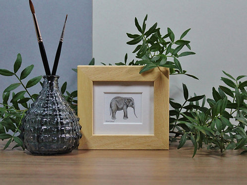 Mini Elephant Art Print - Framed