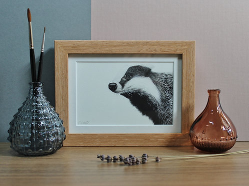 "Badger - ""Trufflehunter"" - Art Print - Framed"