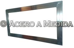 Espejo Con Marco De Acero Inoxidable