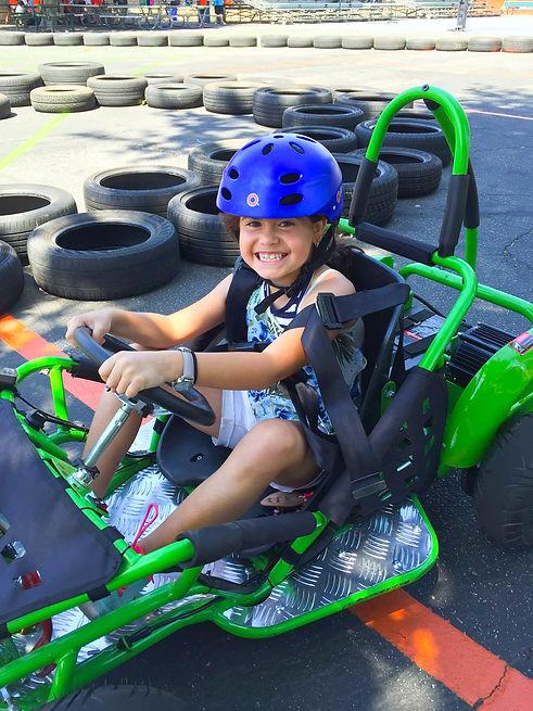 Child riding Go Kart