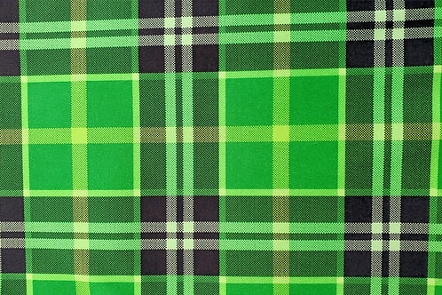 Green Plaid Fleece Lined