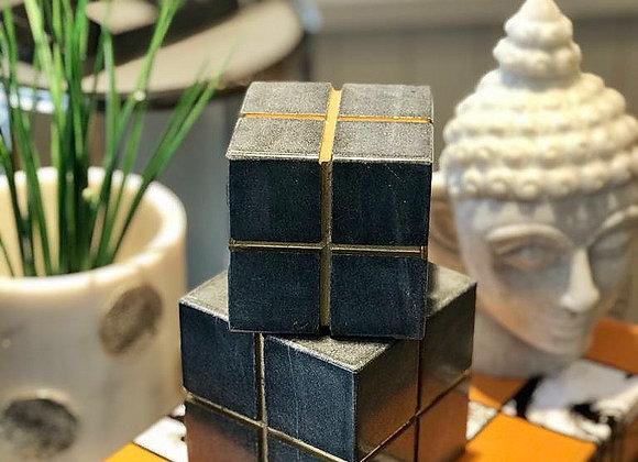 Cube Siyah Mermer Obje