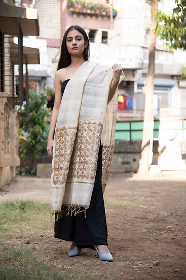 Full Handcraft Embroidered Chanderi Dupatta For Women