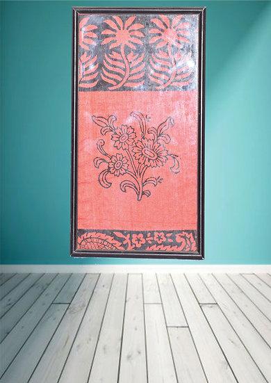 Floral Fabric design wall Hanging Frame Online
