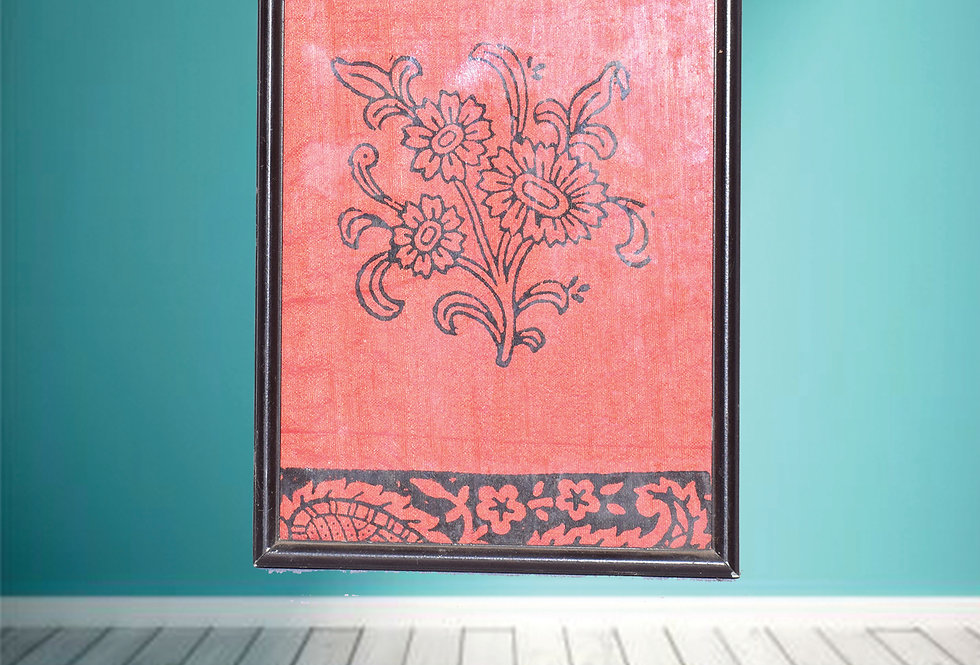 Floral Fabric design wall Hanging Frame Online