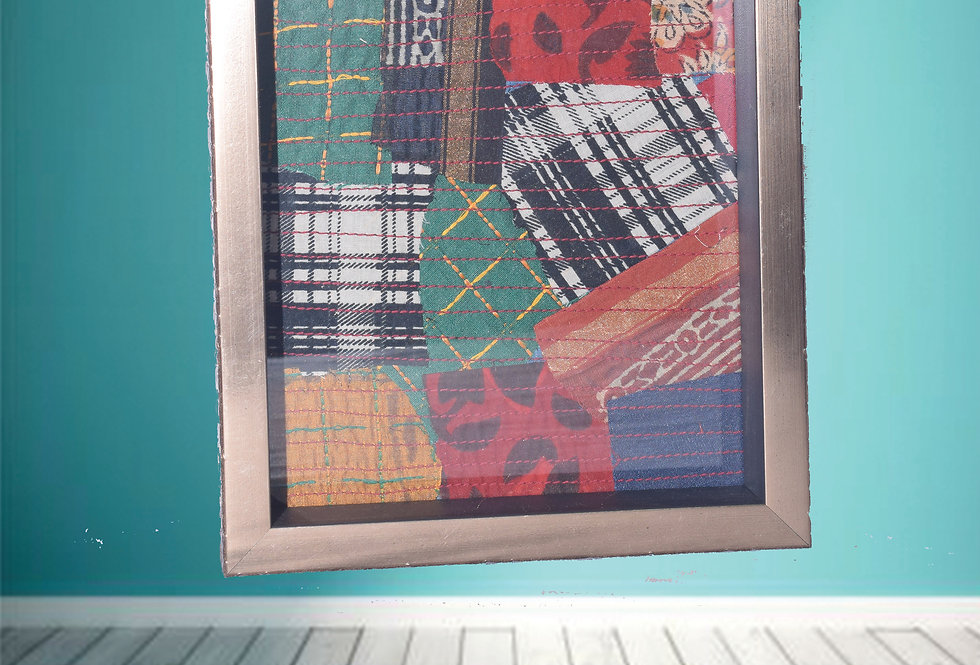 Fabric Collage Wall Hanging Frame with Patch work design online