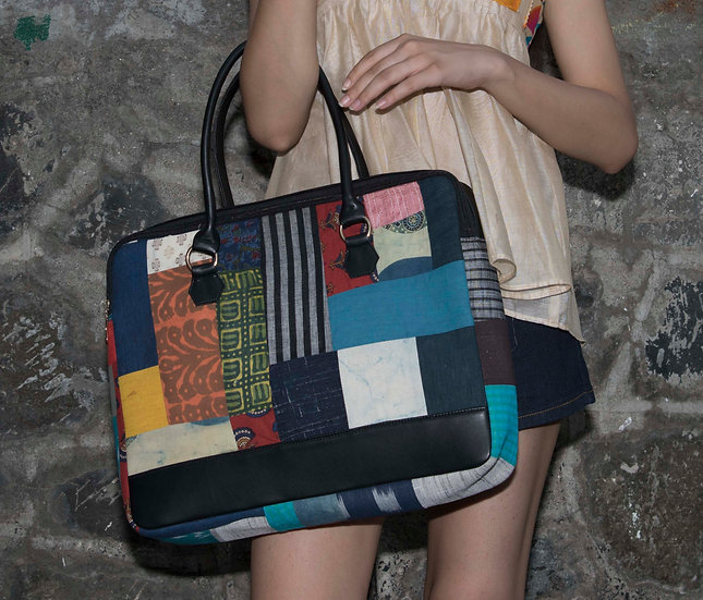 Multicolor Laptop bags for Women with Patch Work Design