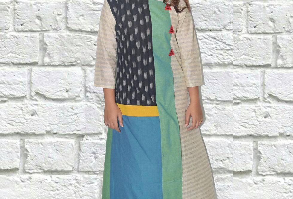 A-Line Patch Work Designer dresses Online