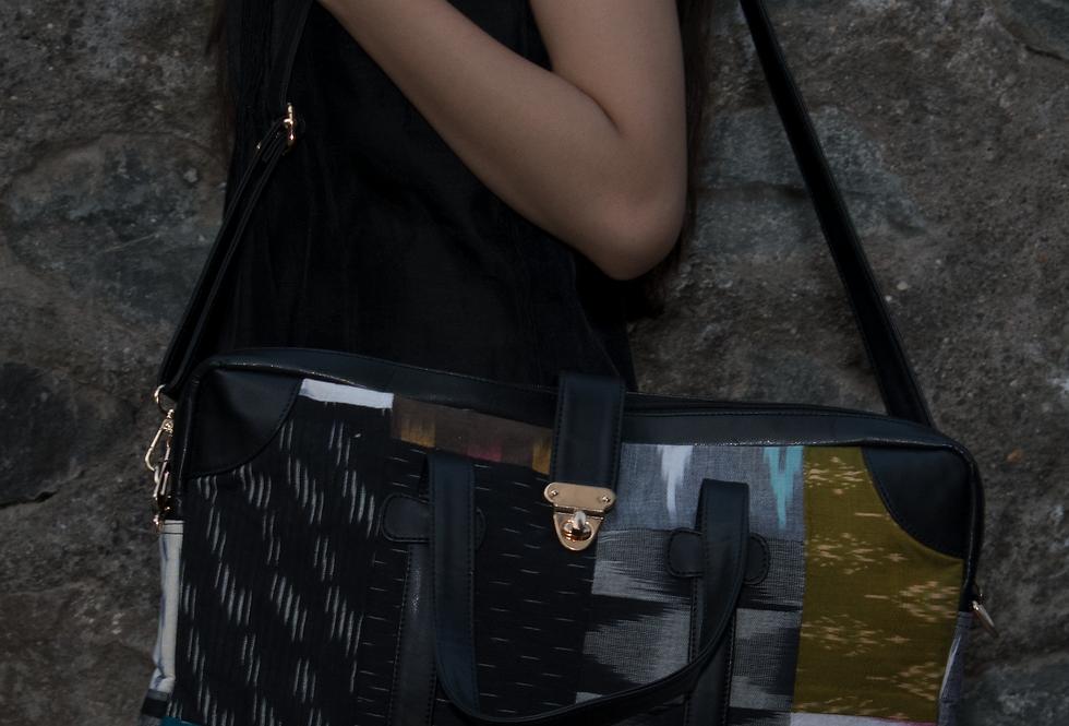 Black base patchwork Laptop Bag for Women